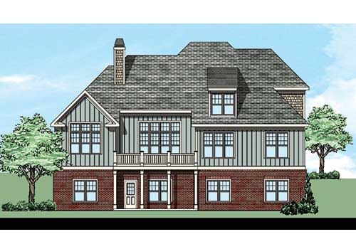 Ridgewood House Plan Rear Elevation