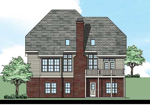 Roseglen House Plan Rear Elevation