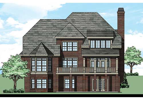 Valmont House Plan Rear Elevation