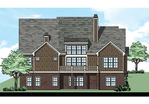 Wynter Park House Plan Rear Elevation