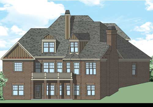 Briarwood House Plan Rear Elevation
