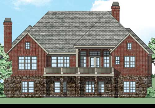 Chestatee House Plan Rear Elevation