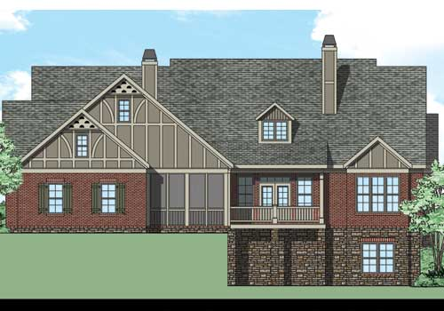 Meyerswood House Plan Rear Elevation
