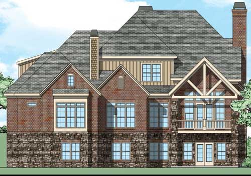 Mill Creek House Plan Rear Elevation