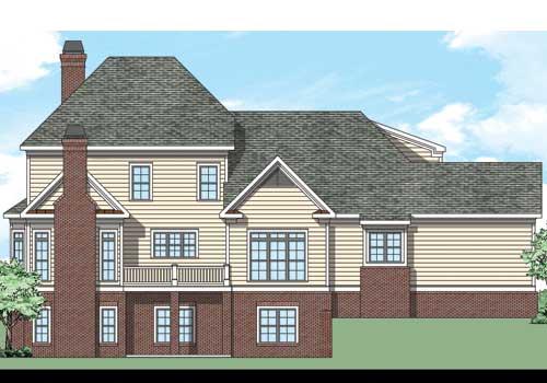 Mountain Brook House Plan Rear Elevation