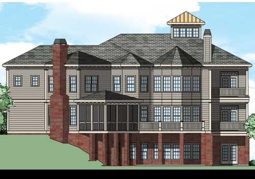 Rivard House Plan Rear Elevation