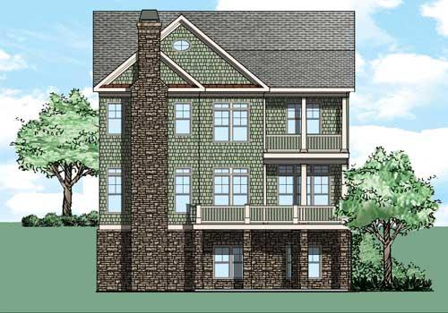 Melissa House Plan Rear Elevation