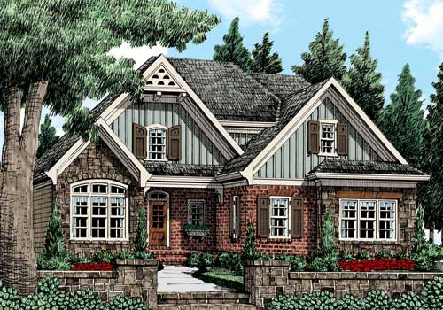 Asbury Park (b) House Plan Elevation