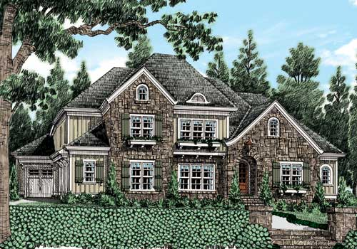 Haines Crossing (c) House Plan Elevation