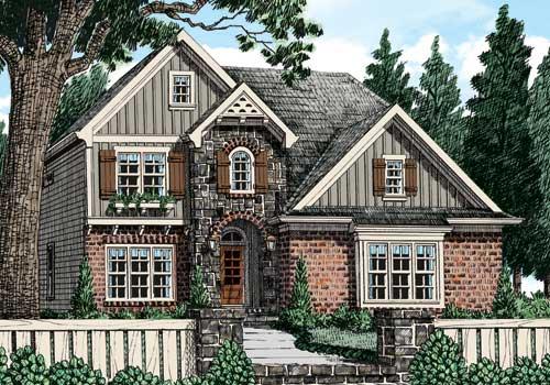 Harrison Mill (a) House Plan Elevation