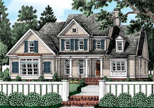 Mackinaw (a) House Plan Elevation