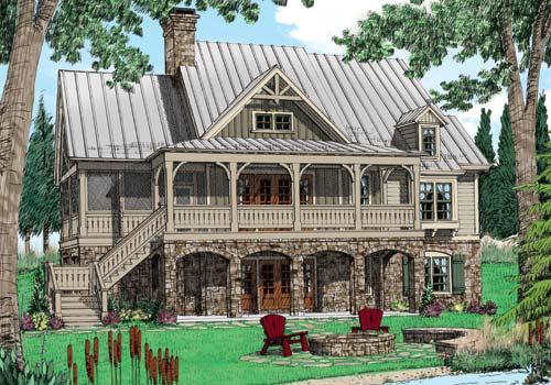 Wolf Laurel House Plan Elevation