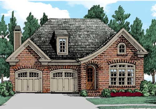 Indian Hawthorne House Plan Elevation