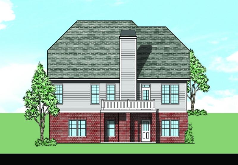 Heydon Hall (b) House Plan Rear Elevation