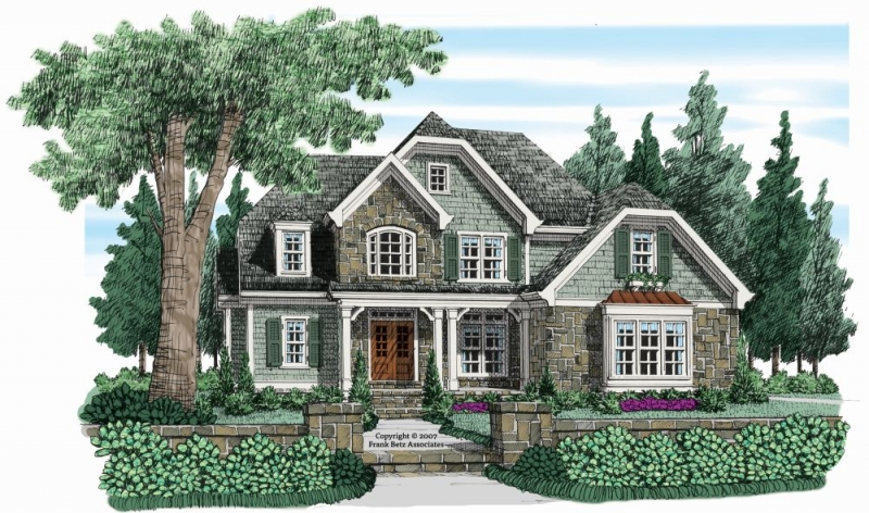 Shoal Creek (a) House Plan Elevation
