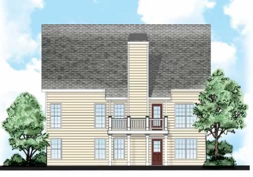 Holland House Plan Rear Elevation