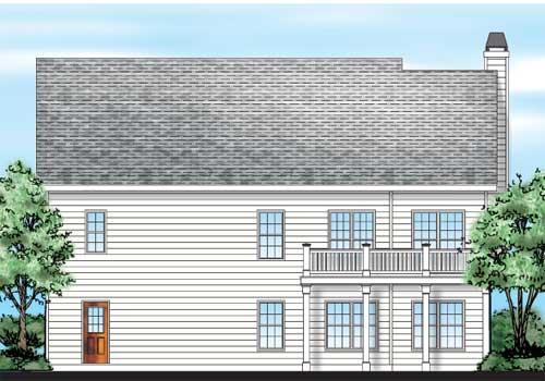 Barnwell House Plan Rear Elevation