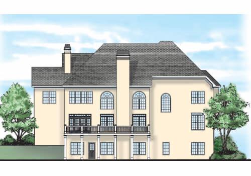 Elam House Plan Rear Elevation