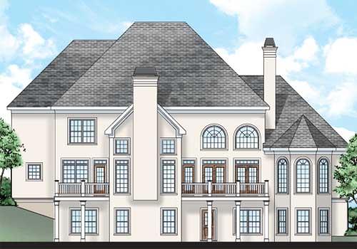 Castlegate House Plan Rear Elevation