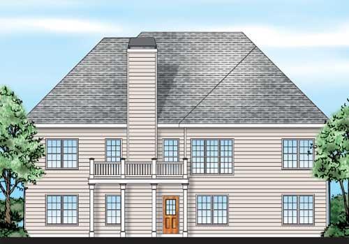 Devonshire House Plan Rear Elevation