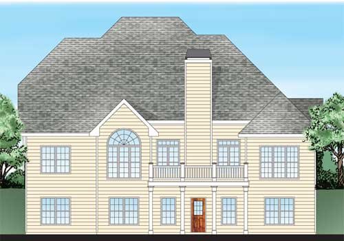 Savoy House Plan Rear Elevation