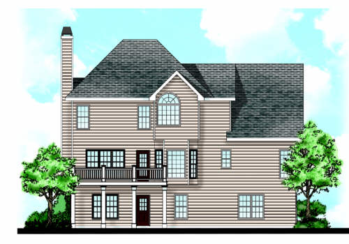 Blanchard House Plan Rear Elevation