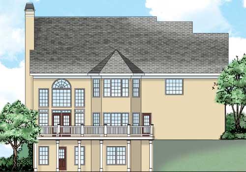 Gentry House Plan Rear Elevation