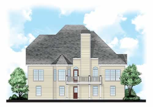 Brookhaven House Plan Rear Elevation