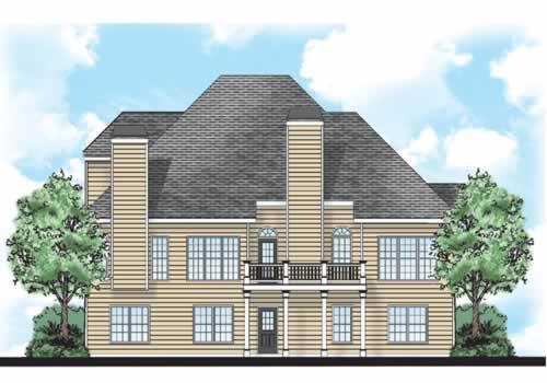 Mallory House Plan Rear Elevation