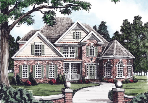Lake Placid House Plan Elevation
