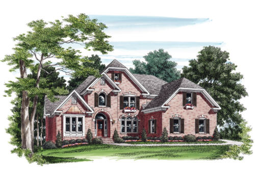 Lansfaire House Plan Elevation