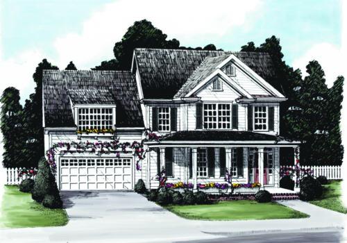 Maplegrove Cottage House Plan Elevation