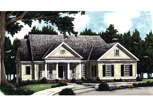Pinebrook House Plan Elevation
