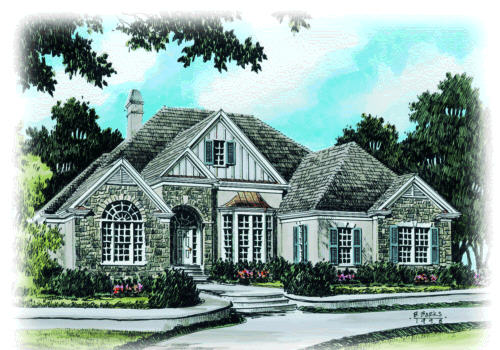 Sanderson Place House Plan Elevation